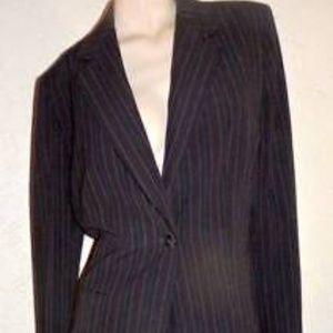 Kasper Black Pinstripe Classic  Business Suit Sz12